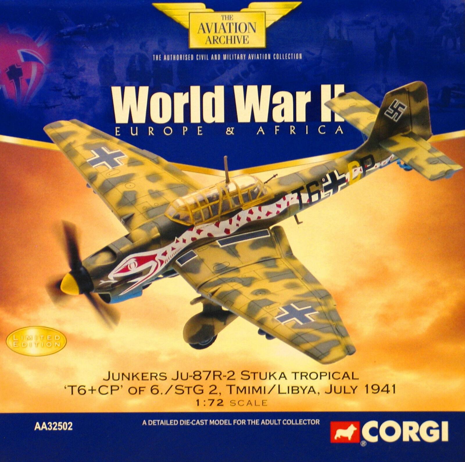 Corgi AA32502 Junkers Ju 87R Stuka 6 StG 2 Tmimi Libya 1941 - Certificate 3 5500