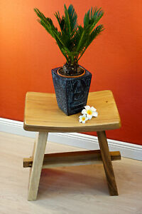 Wooden-Stool-Solid-Wood-Seat-Japan-Teakwood-Garden-Chair-Antique