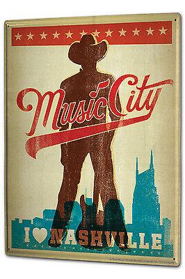 Blechschild Xxl Küche Musik Stadt Nashville