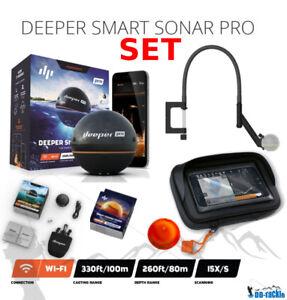 Deeper-Smart-Sonar-Pro-Set-Nuit-Peche-Couvercle-Bras-Flexible-Case-XL