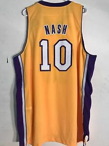 db47d5bf9cf Image is loading Adidas-Swingman-NBA-Jersey-Lakers-Steve-Nash-Gold-
