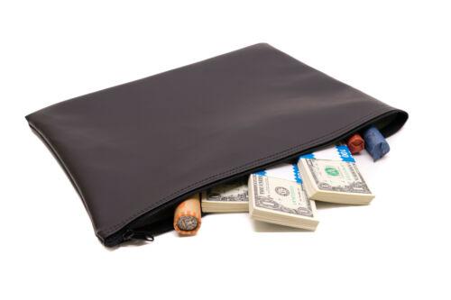 Vinyl Zippered Bank Deposit Bags 25 Bags