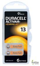 60 Duracell ActivAir Typ 13 Hörgerätebatterien, Hearing Aid Batteries MF NEU