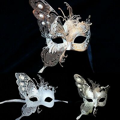 White Masquerade Wedding Mask Pair Bridal Groom Engagement Party-Wider Mens Mask