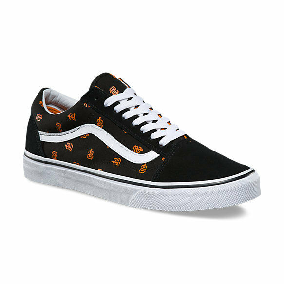 Vans Old Skool San Francisco Giants MLB Women's 6.5 Skate Shoes New Black Orange
