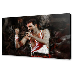 Queen Freddie Mercury canvas print picture wall art free fast delivery