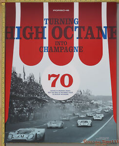 1971 1972 Porsche 917 Coupe Le Mans Museum Showroom Advertising Poster RARE!!