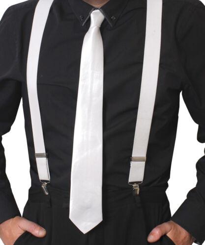 Bretelle e Cravatta Di Raso Set 1920S Gangster Costume Accessorio