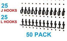 Plastic Black Peg Board Locking Hooks Kit 25 J Amp 25 L Pegboard Not Included