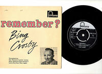 "BING CROSBY.REMEMBER.UK ORIG 7"" EP & PIC/SL.EX/EX"