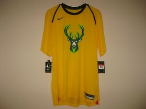meet 78910 00b0e Details about NIKE MILWAUKEE BUCKS DRI FIT CITY EDITION SHOOTING SHIRT MENS  LARGE TEAM ISSUED