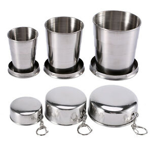 Stainless-Steel-Portable-Outdoor-Camping-Travel-Folding-Collapsible-Cup-S-M-L-LJ