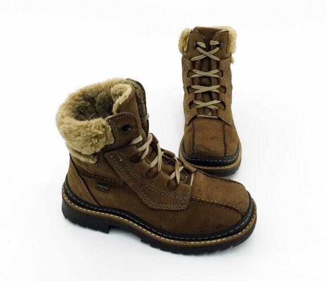 Boots Hush Puppies Stiefeletten Blockabsatz Echtleder braun Gr. 36