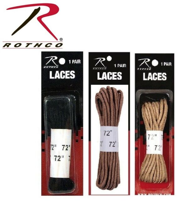 """Rothco/'s Boot Laces Black 72/"""""""