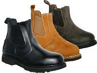 MENS WORK BOOTS STEEL TOE CAPS DEALER BOOT GROUNDWORK GR20 BLACK BROWN HONEY6-13