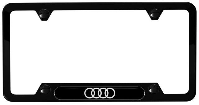 Genuine Audi Four Rings License Plate Frame (black) ZAW071801HDX9   eBay
