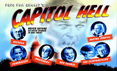 CAPITOL HELL Postcards Obama Clinton Cheney Bush HORROR