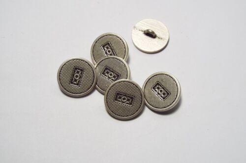 8pc 20mm Estaño con textura de metal Blazer Abrigo Cardigan Botón 2848