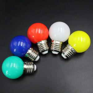 5X-Lampadine-E27-a-Led-E27-1W-Lampada-a-Globo-Led-smerigliato-colorata-22-C1Y3