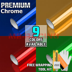 * 9 Colors Chrome Vinyl Film Wrap Sticker Decal Air Release Bubble Free 3 Layers