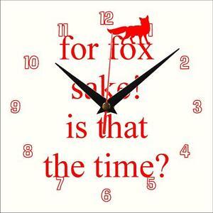 Pour-Fox-sake-Horloge-murale-fait-main-Nouveaute-Cadeau