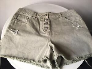 promo codes special discount 100% authentic Details about WOMENS MATALAN GREY DENIM SHORTS SIZE 10 HOTPANTS HOLIDAY  BEACH CLOTHING
