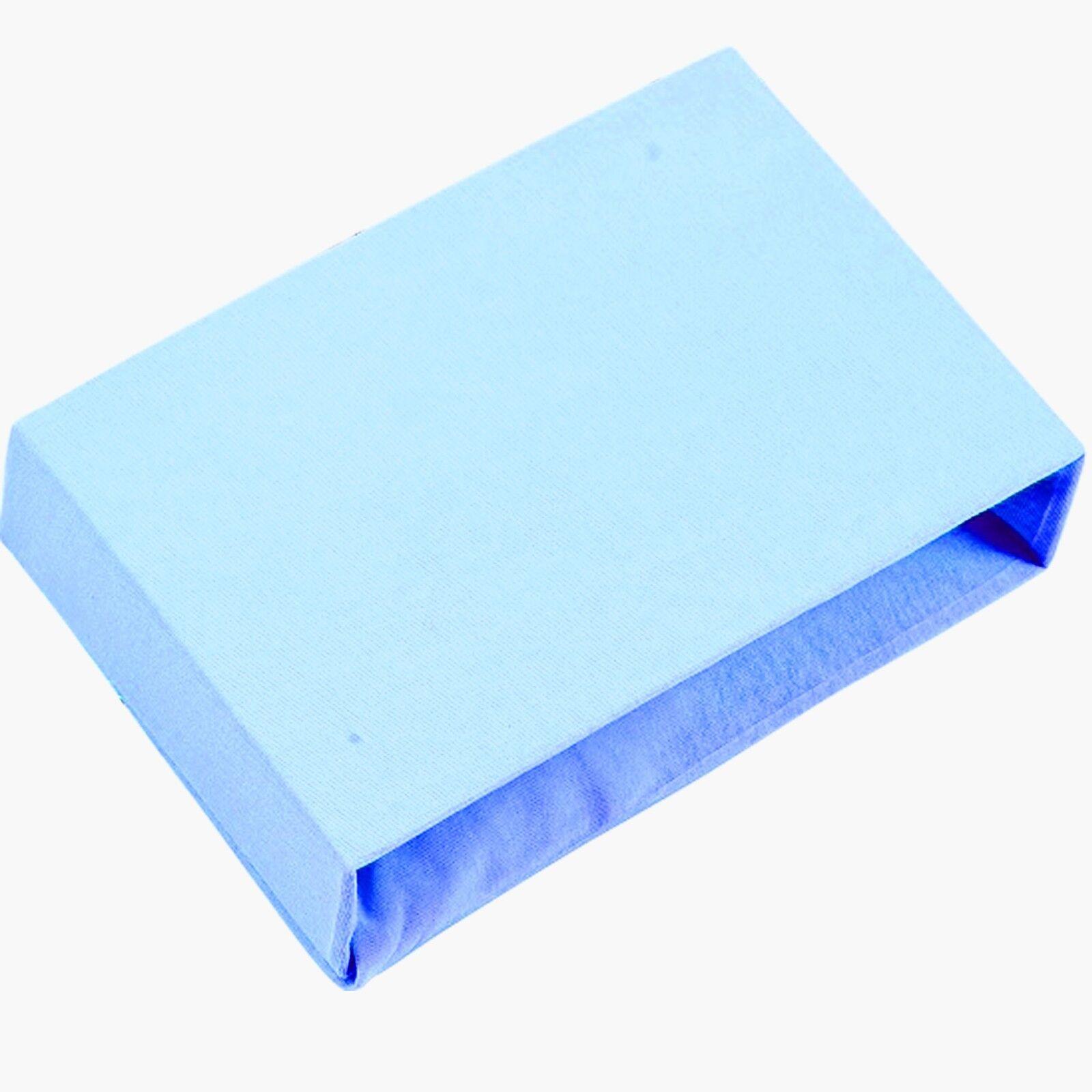 100/% Cotton Angepasstes Bettlaken Viele Farben für Babywiege Kinderbett Cotbed