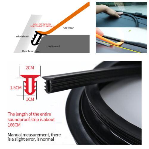 1.6M U Type Car Rubber Sound Seal Strip Auto Windshield Edges Gap Sealing Strips