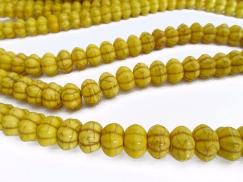 gelb nenad-design E076 52 HALBEDELSTEIN Perlen Howlith Kürbis 12x7mm Farbe