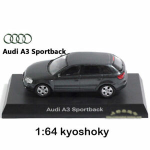 Gris-KYOSHO-1-64-Audi-A3-Diecast-Voiture-Modele-Comme-neuf-1-64-2007-edition-limitee