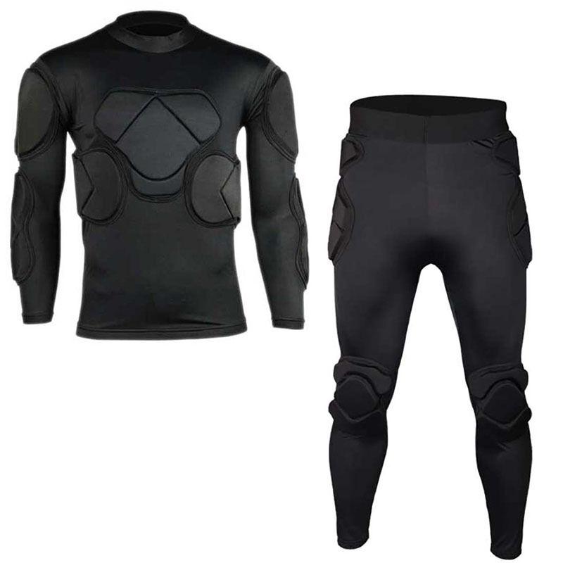 Men's Soccer Football Goal Keeper Goalie Padded Pants +Shirts Tops sport Jersey