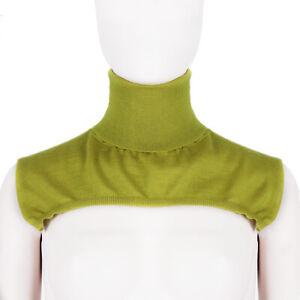 Jil-Sander-Acid-Yellow-Funnel-Neck-Collar-Cashmere-amp-Silk-Scarf