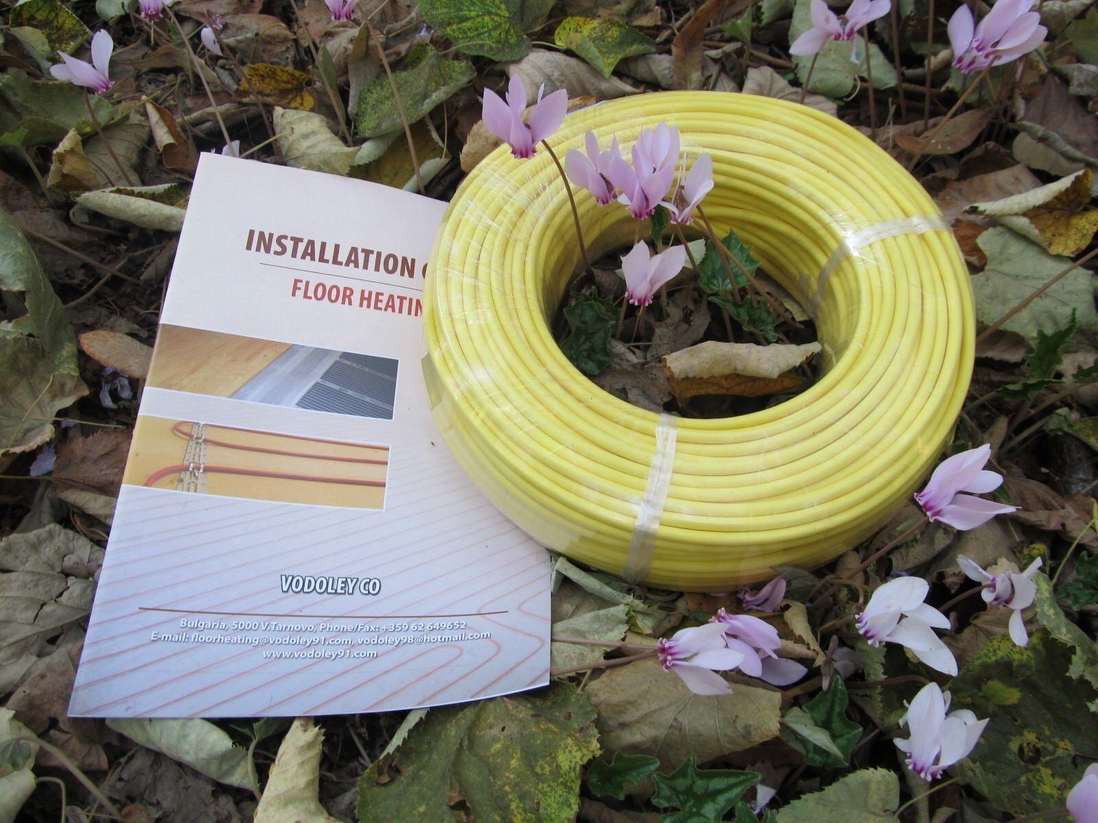 1-1,5sq m 0EMF Warm Tile Under  Floor Heating  cable 200 W 10-15sq.ft 120V