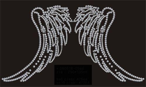 HotFix pedrería perchas motivo perchas imagen elegante alas Wings 090618 karostonebox
