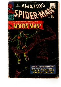 Amazing-Spider-Man-28-VG-Ditko-1st-amp-Origin-Molten-Man-Professor-Smythe