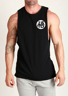 DRAGONBALL Z TRAIN INSAIYAN GOKU SAIYAN 'WISDOM' MUSCLE SHIRT SINGLET TANK TOP