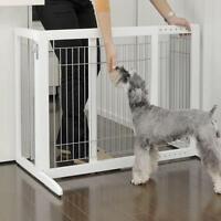 Gate Pet Free Standing Dog Wood Freestanding Wooden Fence Indoor Adjustable Wide