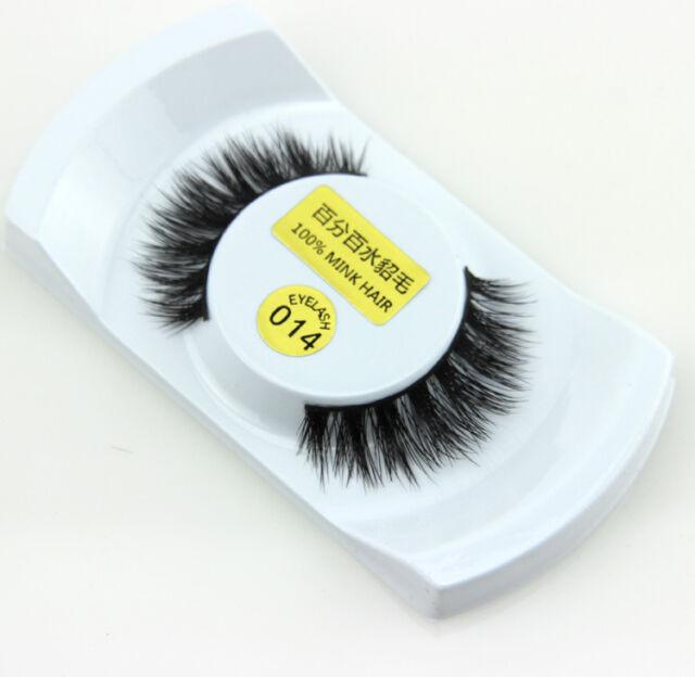 Soft Design 3D 100% Real Mink False Eyelashes Cross Messy Eye Lashes 1 Pairs ilo
