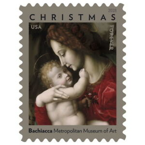 USPS New Madonna and Child by Bachiacca Double-sided Booklet of 20