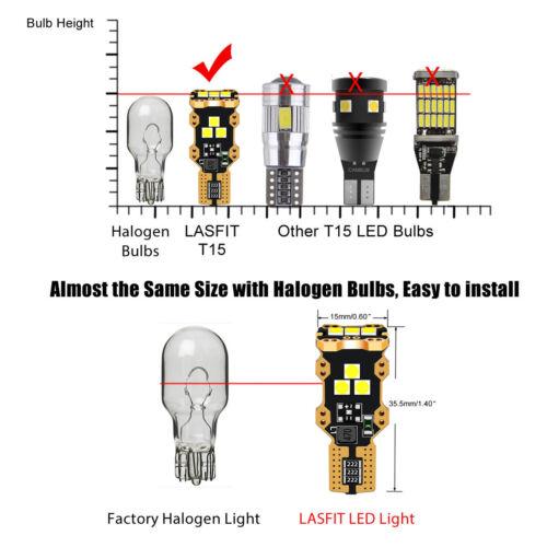 LASFIT LED Cargo VAN Area Light Trunk Lamp Bulb 921 912 T15 Bright White 6000K