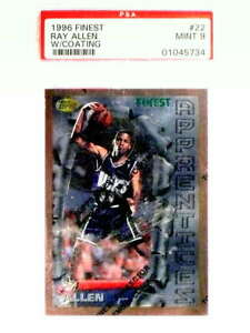1996-97-Topps-Finest-Ray-Allen-Rookie-RC-22-PSA-9-MINT-71657