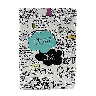 English Words PU Leather Flip Stand Plastic Case Cover Skin For iPad Mini 1 2 3