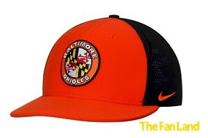 4ea2594f0 Details about New MLB Baltimore Orioles Mens Nike True Vapor Swoosh  Performance Flex Hat Cap
