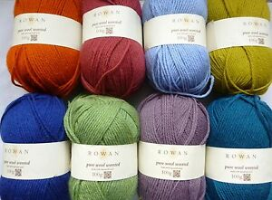Rowan-Pure-Wool-Worsted-x-100g-100-Wool-Choose-Colour