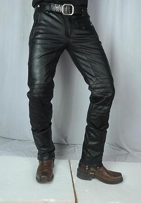 Leather jeans pant Stretch biker moto harley Davidson KTM honda Ducati yamaha