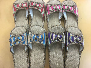 10b40c133 Image is loading Women-hemp-Sandals-slippers-Shoes-Casual-comfortable-shoes