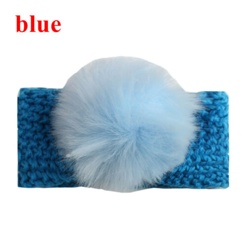 Hair Accessories Baby Headwrap Fur Ball Hairband Bows Turban  Crochet Headband