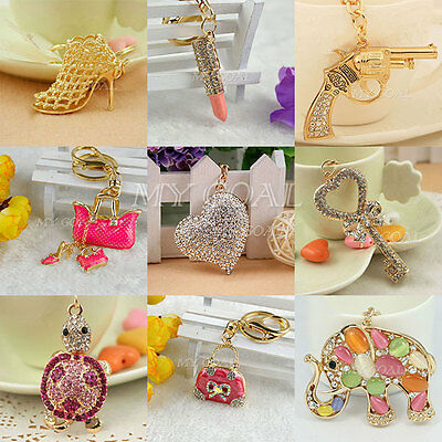 Crystal Keyring Charm Pendant Purse Bag Key Ring Chain Keychain key Fob Gift