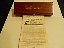 New Listingvintage Brown Amp Sharpe 748 Speed Indicator With Original Wooden Box