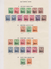 New Zealand 1938/51 Official Collection 3 Pages of Used VARIOUS PAPERS